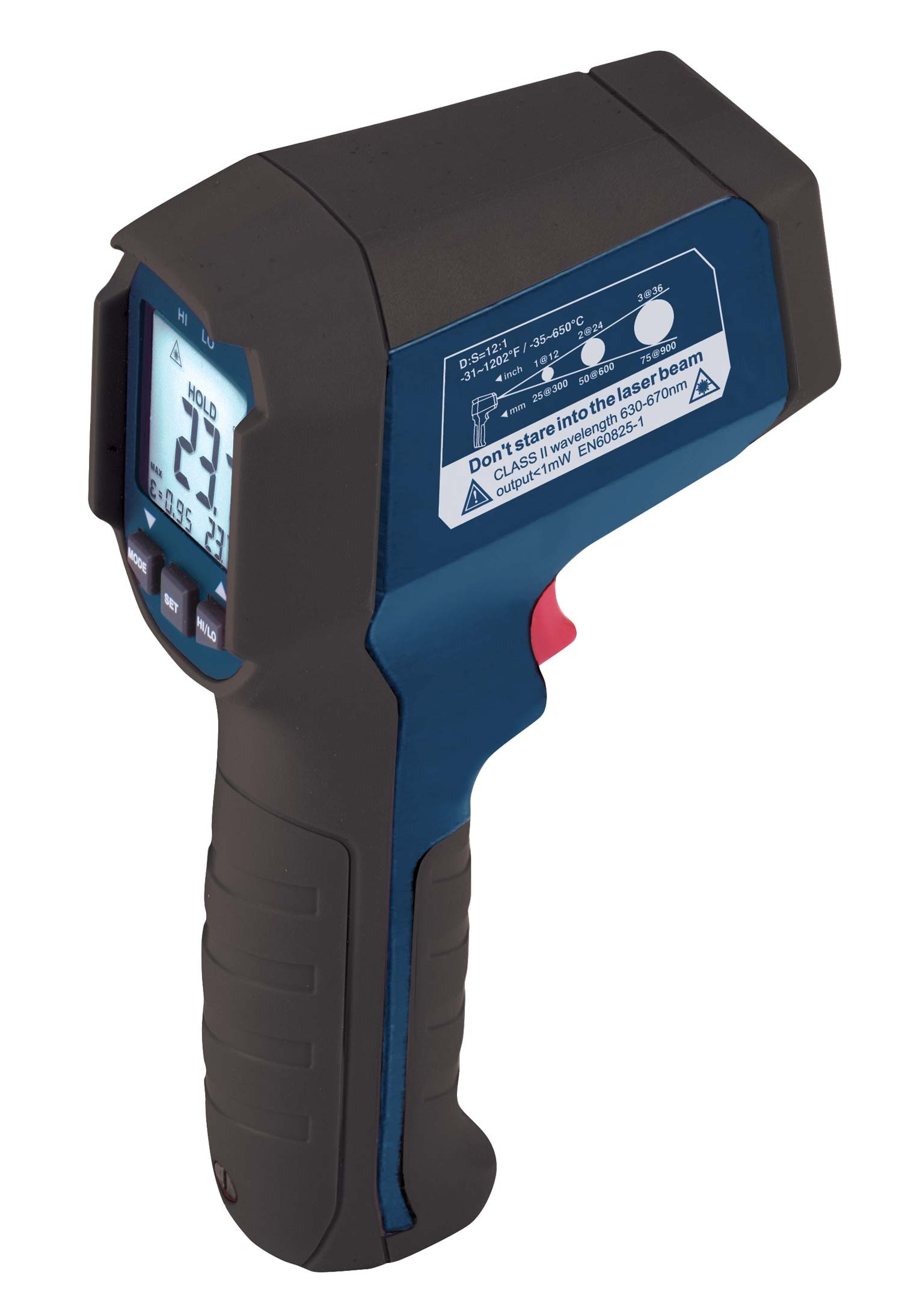 REED R2310 Infrared Thermometer, 12:1, 1202°F (650°C)-
