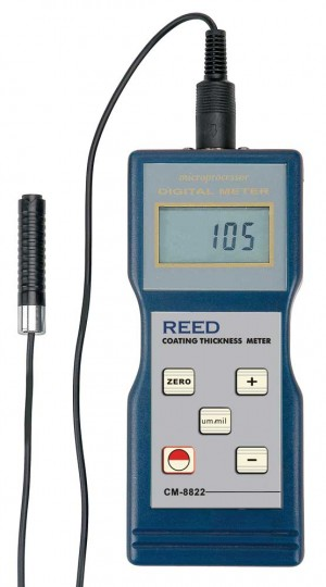 REED CM-8822 Coating Thickness Gauge, 0 to 40mils (0 to 1000µm)-