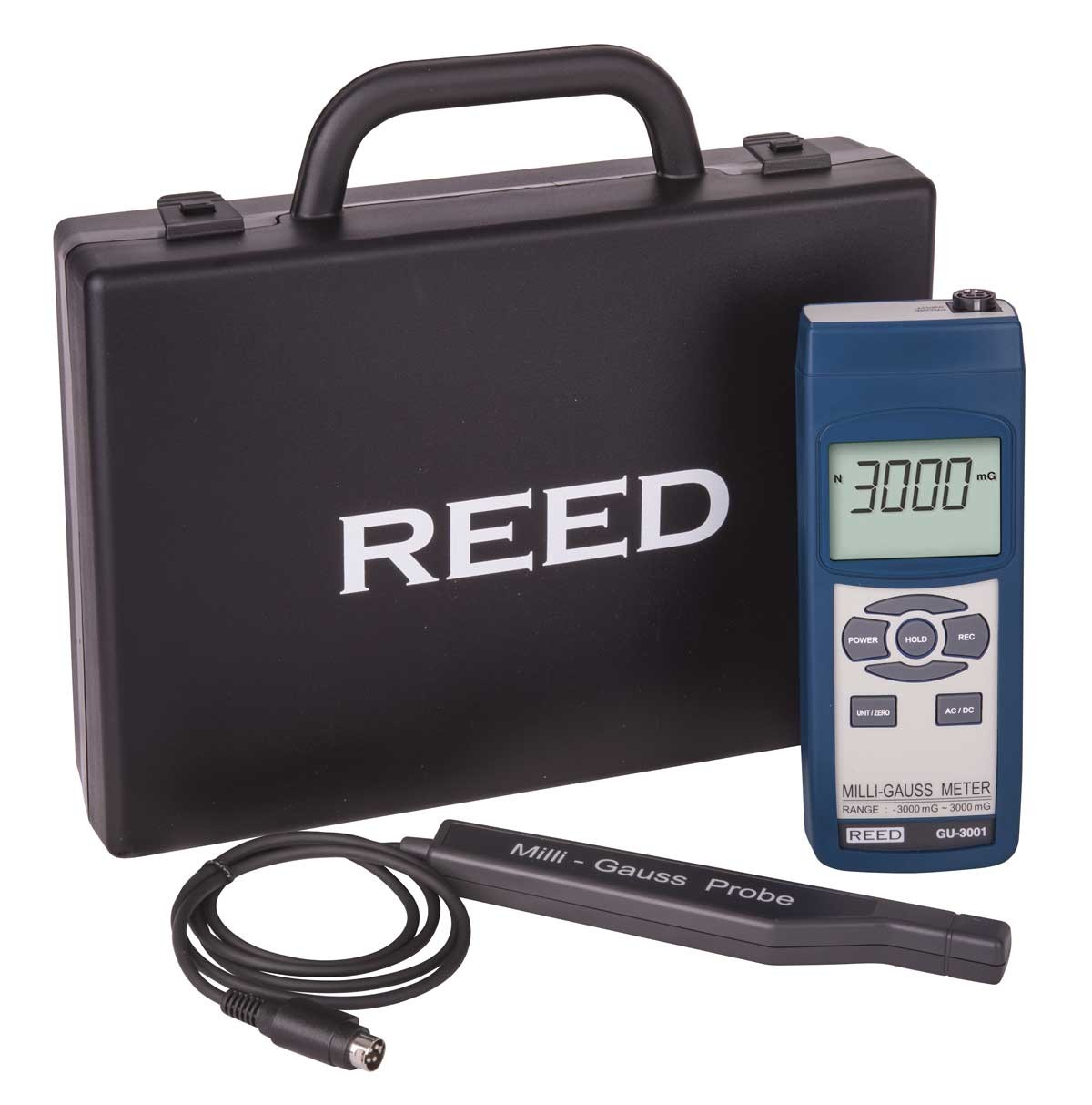 REED GU-3001 Electromagnetic Field (EMF) Meter, milliGauss (mG)/ microTesla(µT)-Included