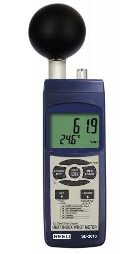 Heat Measuring Instruments : Reed sd series wbgt heat stress meter datalogger