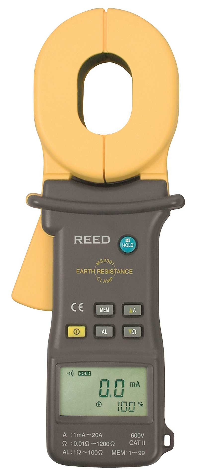REED MS2301 Clamp-on Ground Resistance Tester-