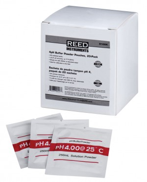 REED R1004 4pH Calibration Buffer Pouches, 20-Pack-