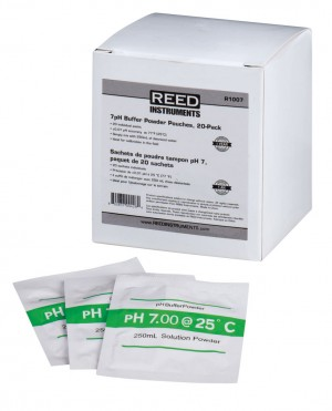 REED R1007 7pH Calibration Buffer Pouches, 20-Pack-