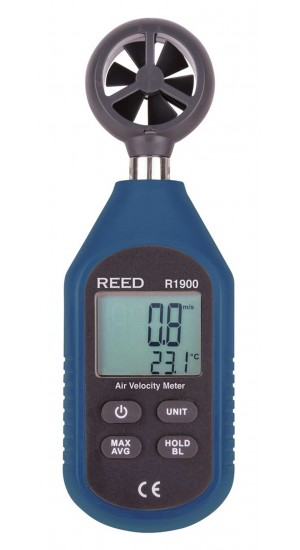 REED R1900 Air Velocity Meter, Compact Series-