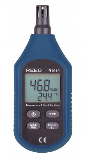 REED R1910 Temperature & Humidity Meter, Compact Series-