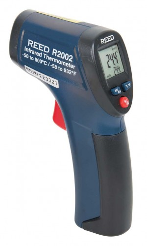 REED R2002 Compact Infrared Thermometer, 8:1, 932°F (500°C)-