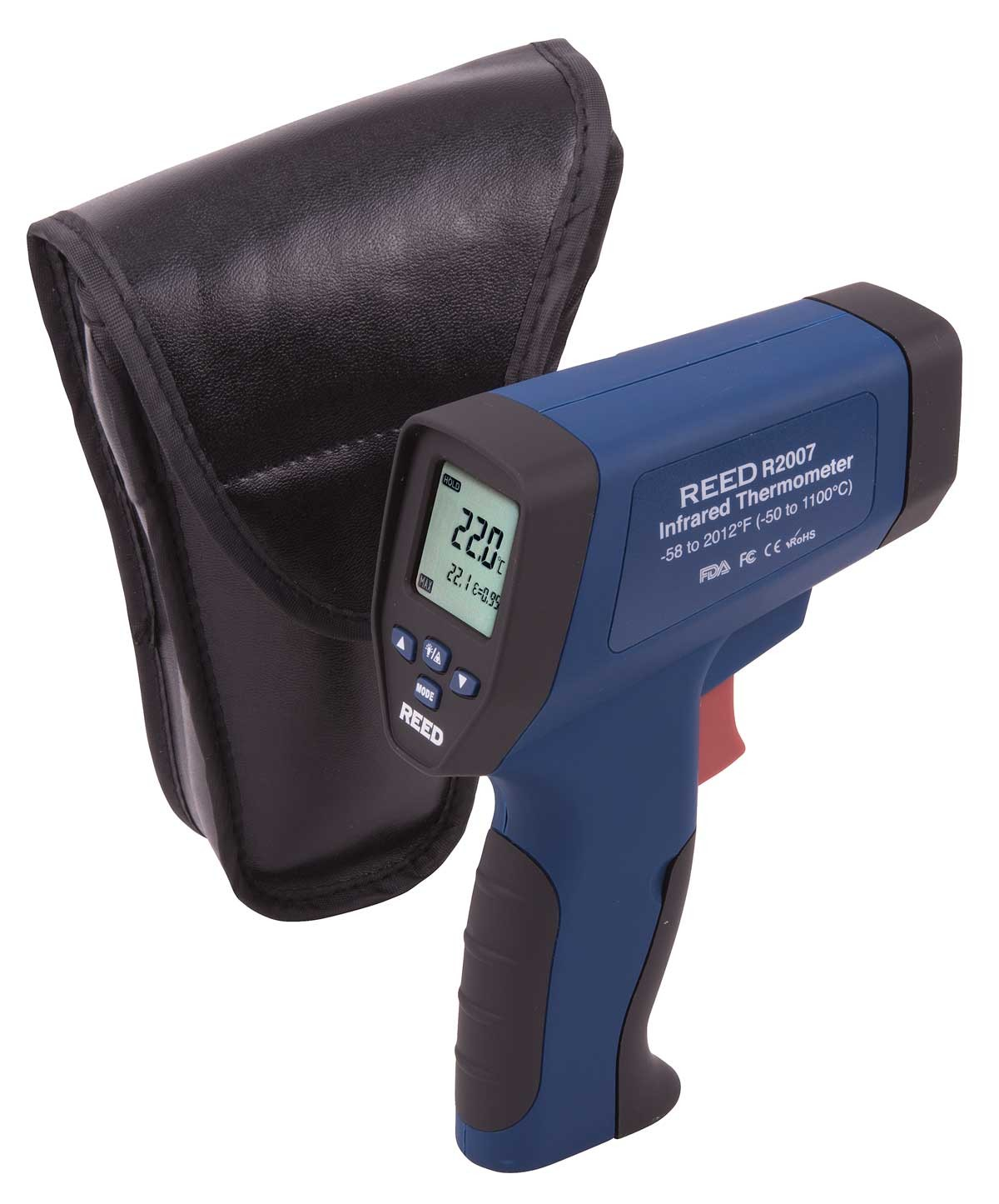 REED R2007 Dual Laser Infrared Thermometer, 50:1,  2012°F (1100°C)-Included