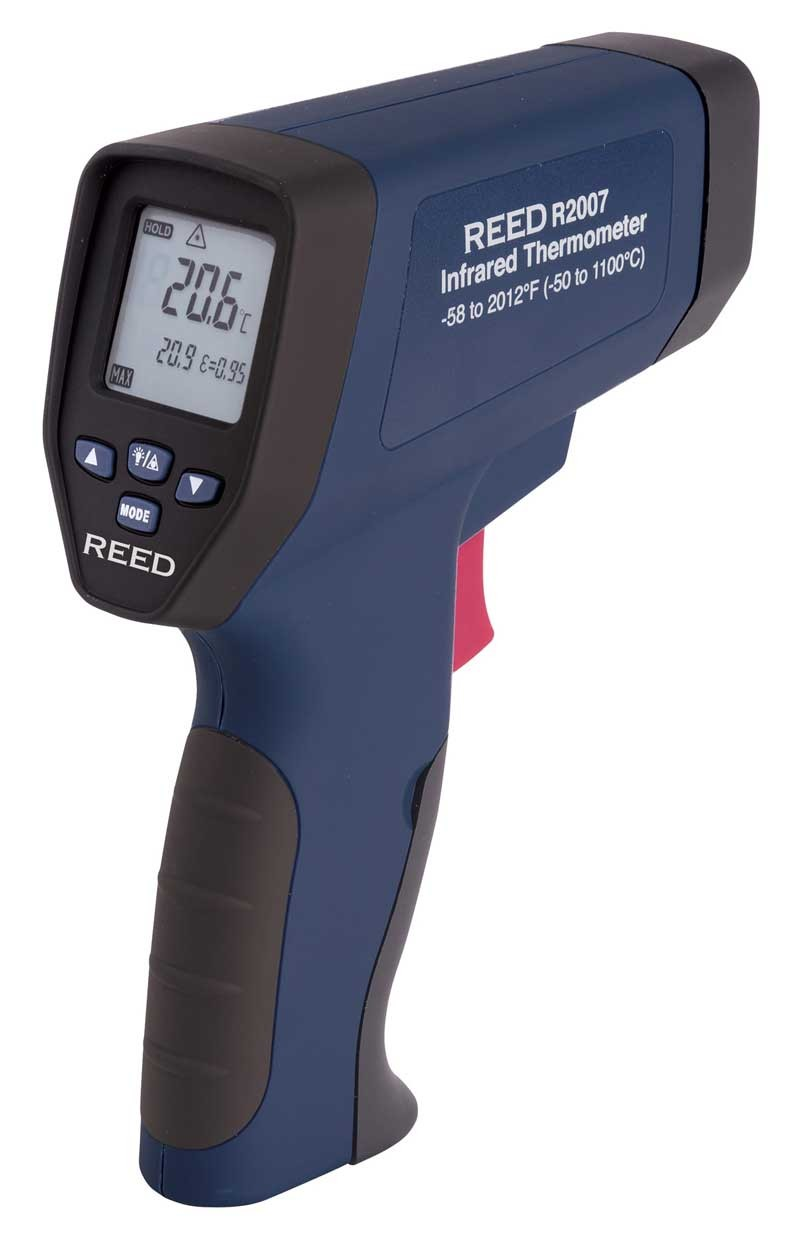 REED R2007 Dual Laser Infrared Thermometer, 50:1,  2012°F (1100°C)-