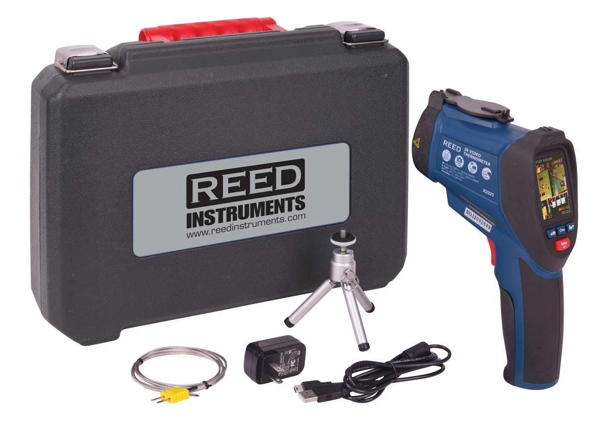 REED R2020 Dual Laser Video Infrared Thermometer, 50:1-Included