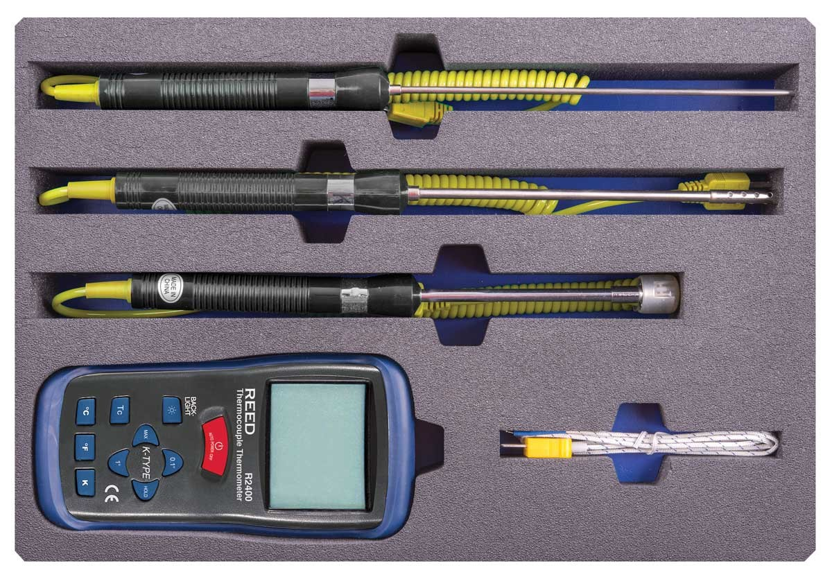 REED R2400-KIT Thermocouple Thermometer Kit-REED R2400-KIT 2