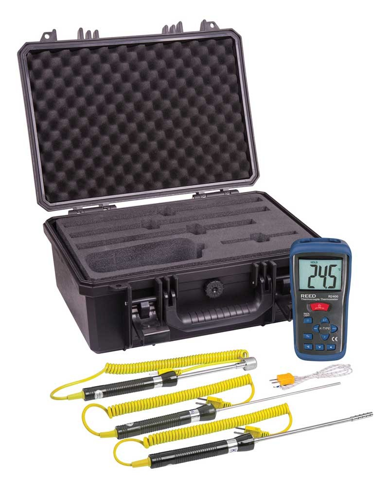 REED R2400-KIT Thermocouple Thermometer Kit-