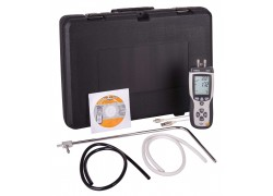 REED R3001 Pitot Tube Anemometer and Differential Manometer, with Air Volume (CFM/CMM)-Included