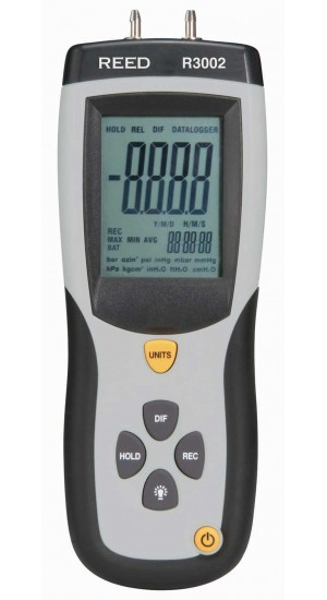 REED R3002 Digital Manometer, Gauge / Differential, 5psi-