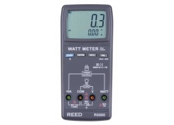 REED R5000 Autoranging Watt Meter, True RMS-