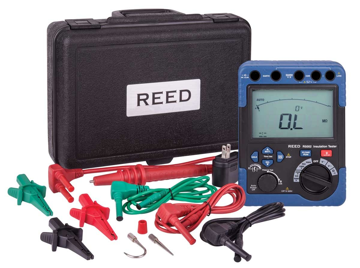 REED R5002 Digital High Voltage Insulation Tester-Included