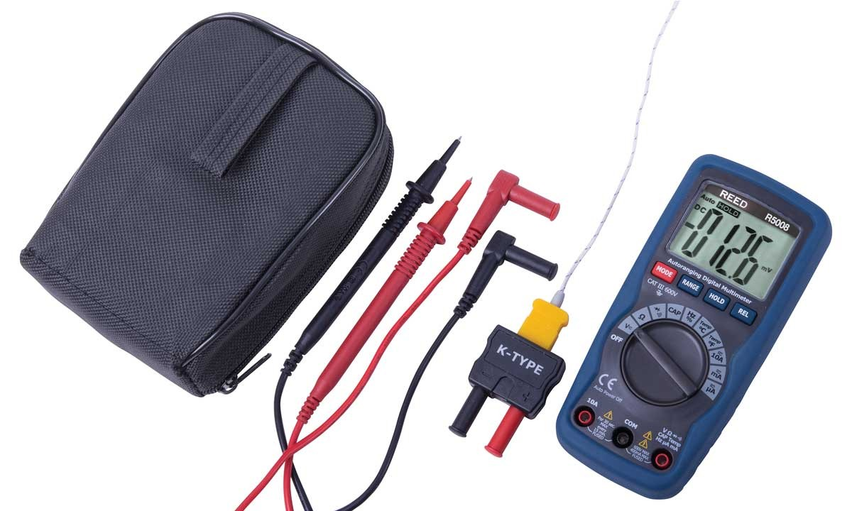 REED R5008 Compact Digital Multimeter with Temperature-Included