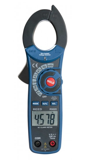 REED R5020 400A AC Clamp Meter with Temperature and Non-Contact Voltage Detector-