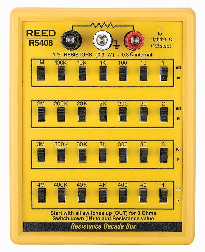 REED R5408 Resistance Decade Box-
