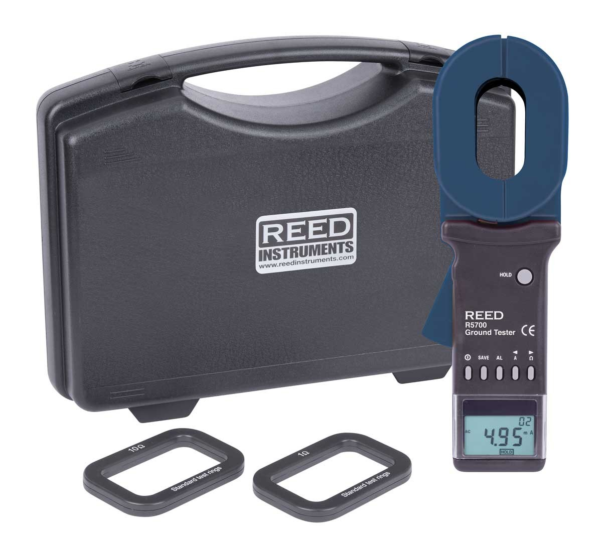 REED R5700 Clamp-On Ground Resistance Tester-Included