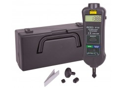 REED R7150 Professional Combination Contact / Non-Contact Laser Photo Tachometer-Included