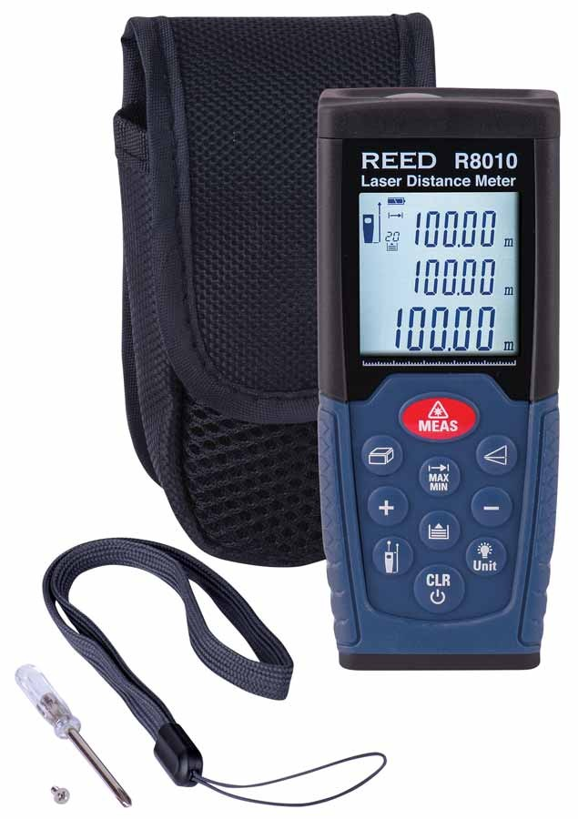 REED R8010 Laser Distance Meter, 328' (100m)-Included
