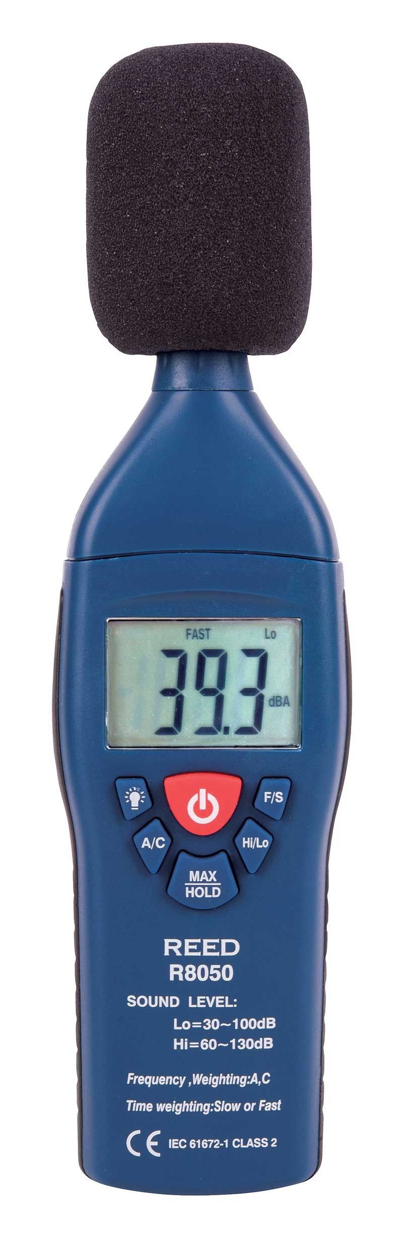 REED R8050 Sound Level Meter, Type 2, 30 to 130 dB-