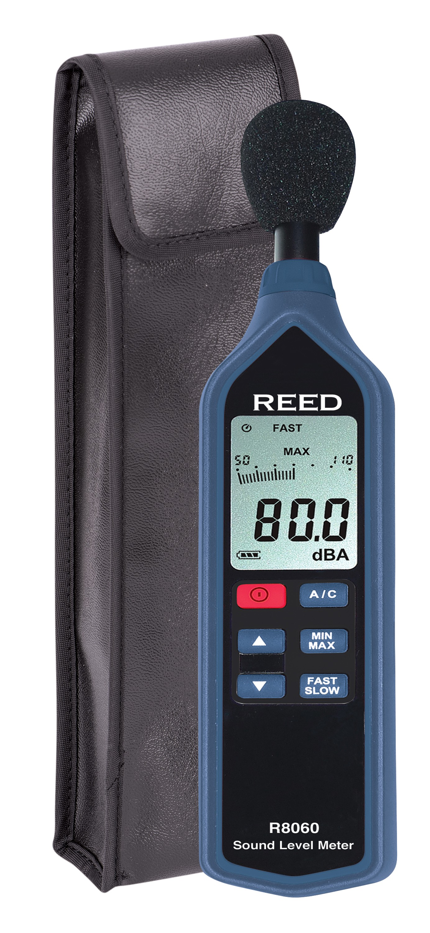REED R8060 Sound Level Meter with Bargraph, Type 2, 30 to 130 dB-Included