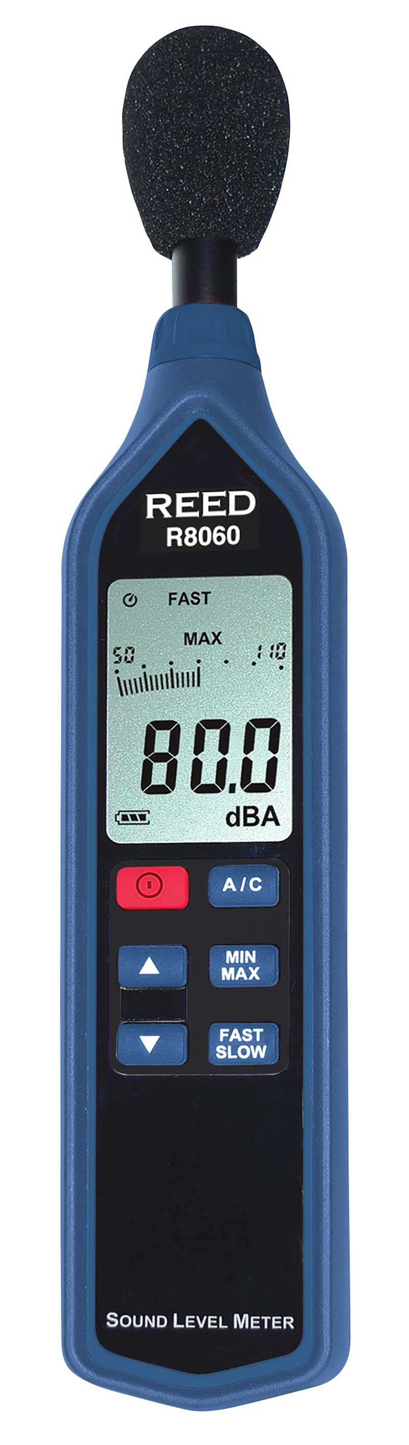 REED R8060 Sound Level Meter with Bargraph, Type 2, 30 to 130 dB-