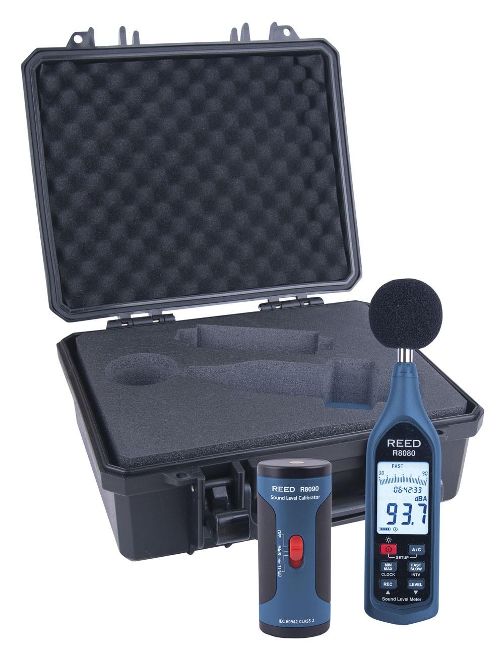 REED R8080-KIT Data Logging Sound Level Meter and Calibrator Kit