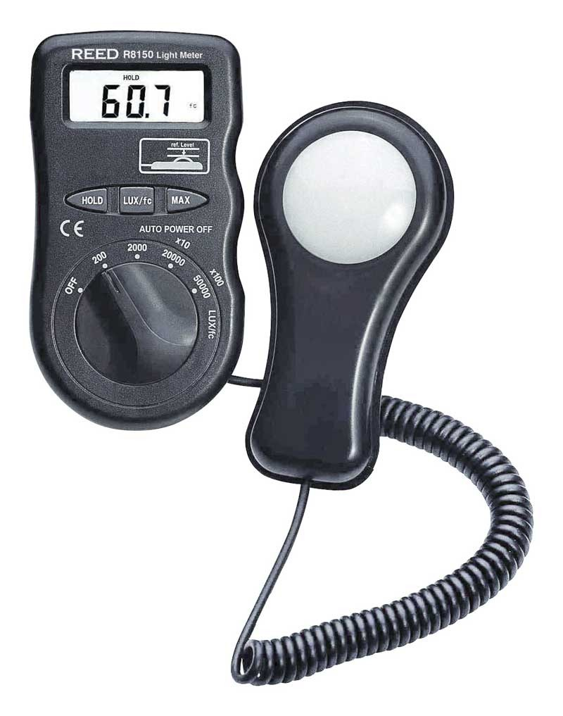 REED R8150 Pocket Light Meter, 50,000 Lux / 5,000 Foot Candles (Fc)-