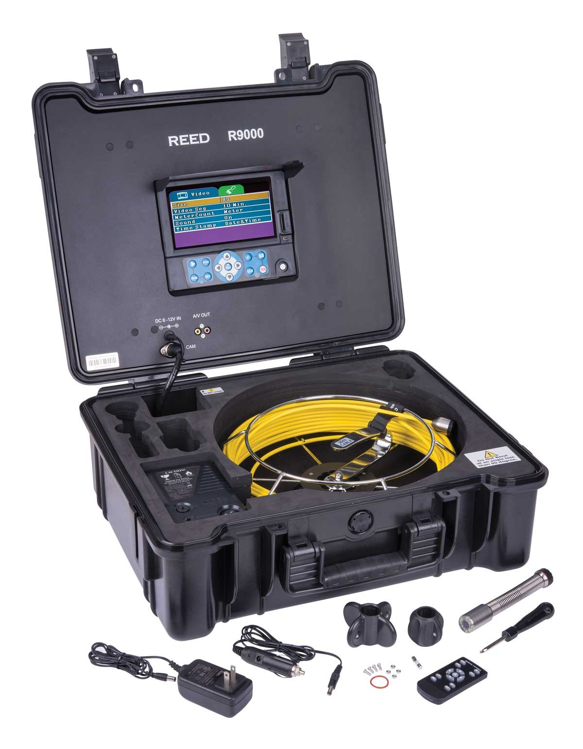 REED R9000 HD Video Inspection Camera System-Included
