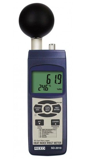 REED SD-2010 SD Series WBGT Heat Stress Meter, Datalogger-