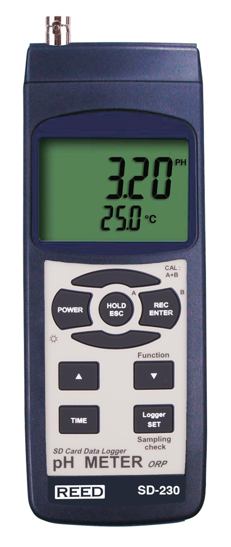 REED SD-230 SD Series pH/ORP Datalogger, 0.00 to 14.00 pH / 0-1999 mV-