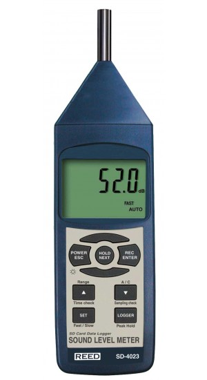 REED SD-4023 SD Series Sound Level Meter, Datalogger, 30 to 130dB-