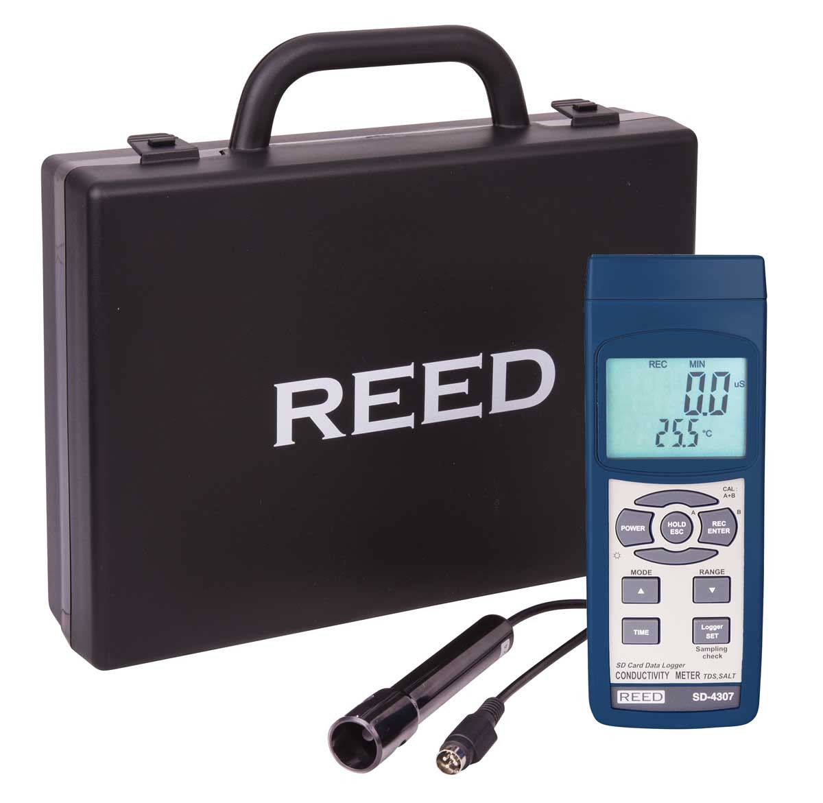 REED SD-4307 SD Series Conductivity/TDS/Salinity Datalogger-Included
