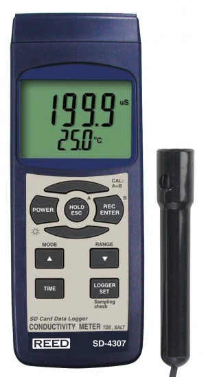 REED SD-4307 SD Series Conductivity/TDS/Salinity Datalogger-