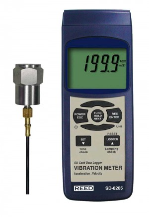 REED SD-8205 SD Series Vibration Meter, Datalogger-