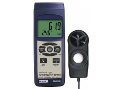 REED SD-9300 SD Series Environmental Meter, Datalogger (Air Velocity/Temp, Light, Ambient Temperature, Humidity)-