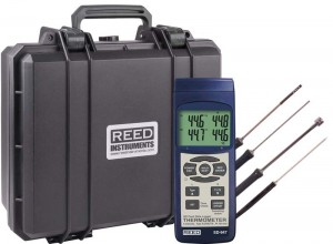 REED SD-947DELUXE Thermocouple/RTD Thermometer/Data Logger Kit-