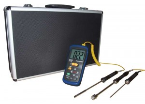 REED ST-610BDELUXE Deluxe Thermometer Kit with 3 Probes and Case-