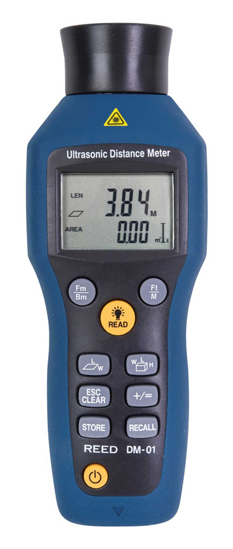REED DM-01 Ultrasonic Distance Meter, 52' (16m)-