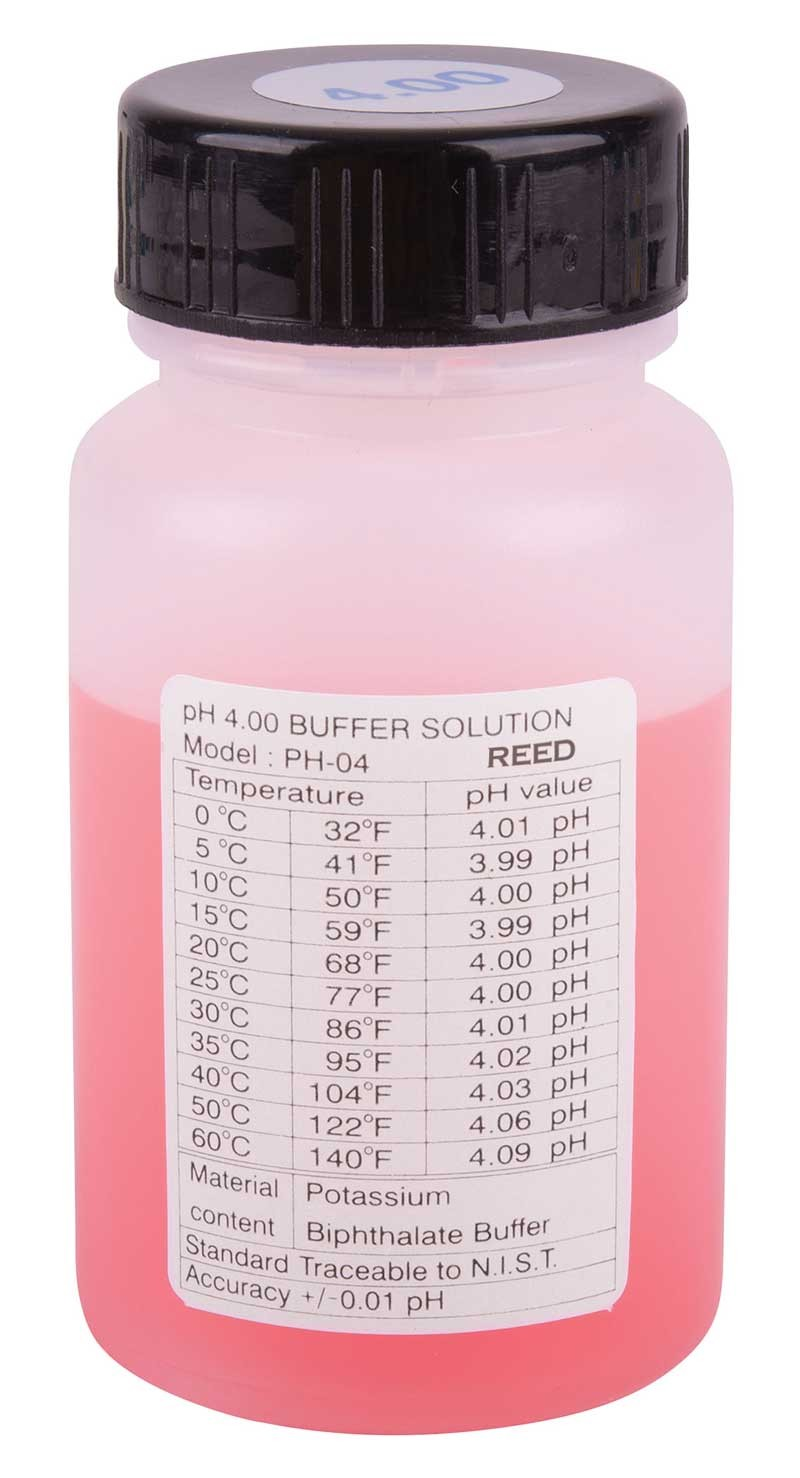 REED PH-04 pH Buffer Solution, 4pH-