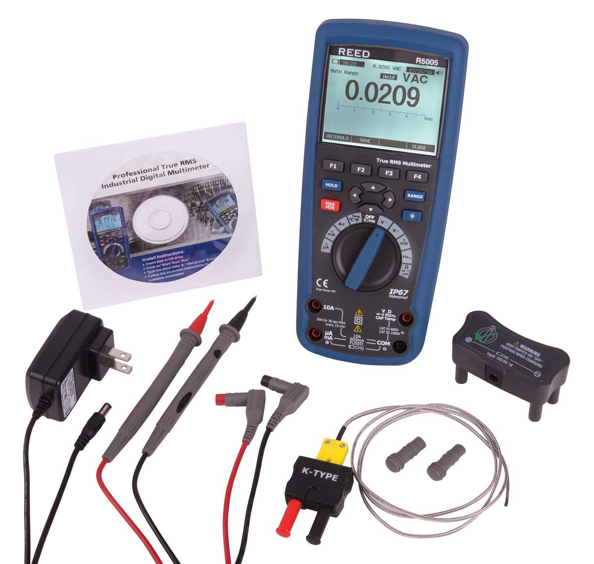 REED R5005 True RMS Industrial Multimeter with Bluetooth-Included