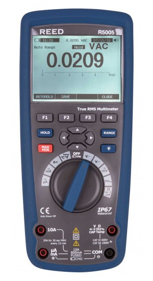 REED R5005 True RMS Industrial Multimeter with Bluetooth-
