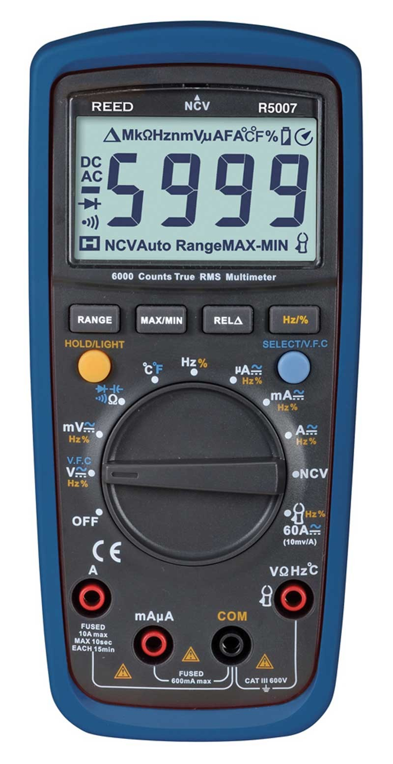 Reed R5007 Trms Digital Multimeter With Non Contact Voltage Detector Electric Noncontact Ac The Home Depot Canada