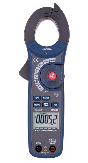 REED R5040 1000A True RMS AC/DC Clamp Meter with NCV-