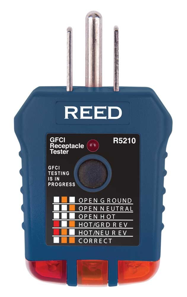 REED R5210 Receptacle Tester with GFCI-
