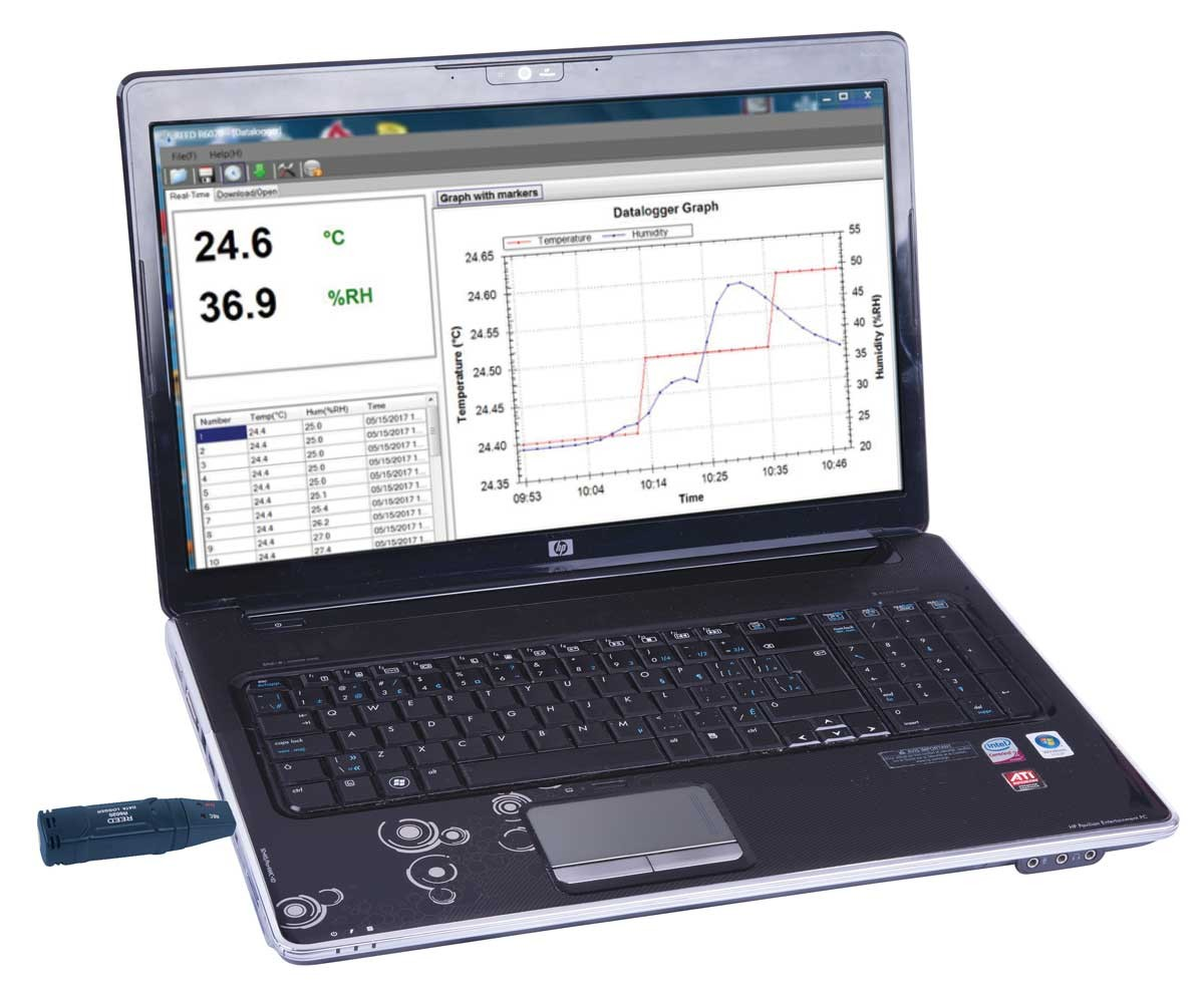 REED R6020 Temperature & Humidity USB Data Logger-REED R6020 2