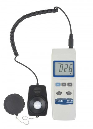 REED R8120 Lux Light Meter with Detachable Sensor, 20,000 Lux-