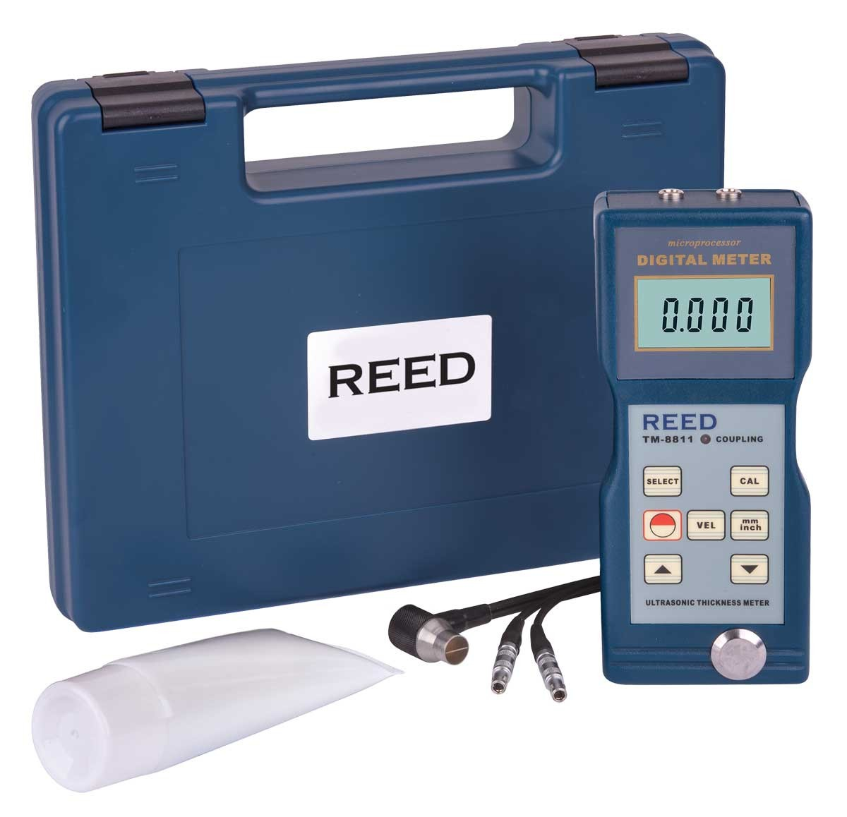 REED TM-8811 Ultrasonic Thickness Gauge-Included